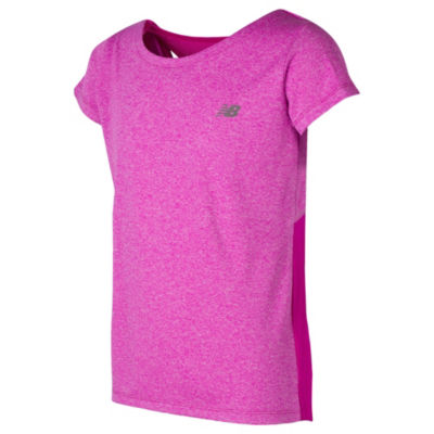 New Balance Short Sleeve Round Neck T-Shirt-Preschool Girls