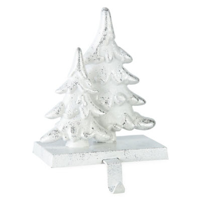 North Pole Trading Co. Metal Snowy Tree Stocking Holder