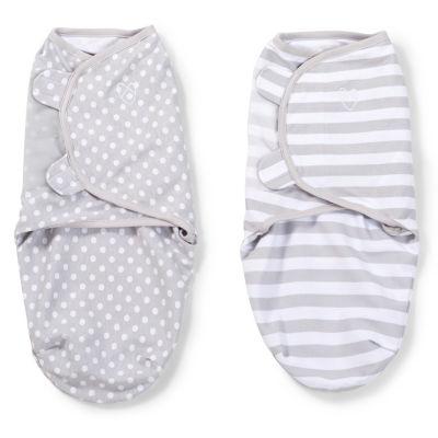 SwaddleMe 2-pk. Blanket - Grey Dot/Stripe