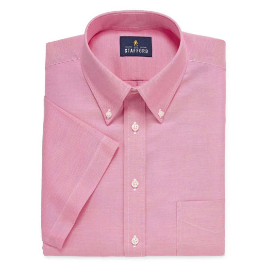 Stafford Travel Wrinkle Free Stretch Oxford Short Sleeve