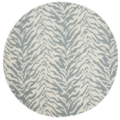 Safavieh Marbella Collection Anson Geometric RoundArea Rug