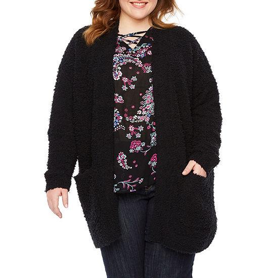 Boutique + Long Sleeve Cardigan - Plus