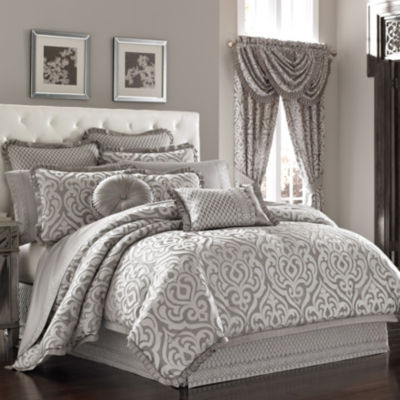 Queen Street Lakeview 4-pc. Jacquard Heavyweight Comforter Set