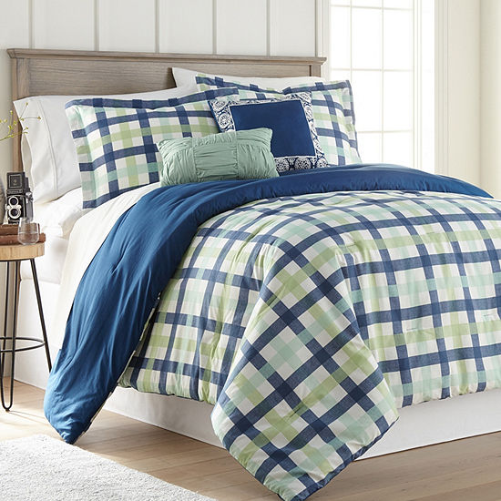 Hawthorne Park Gingham 5PC Comforter Set