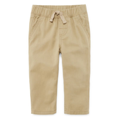 Okie Dokie Khaki Twill Pull-On Pant - Baby Boy NB-24M