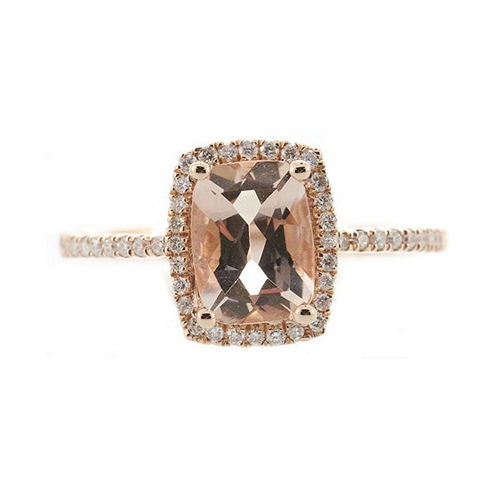 LIMITED QUANTITIES! Womens 1/5 CT. T.W. Genuine Pink Morganite 10K Rose Gold Cocktail Ring