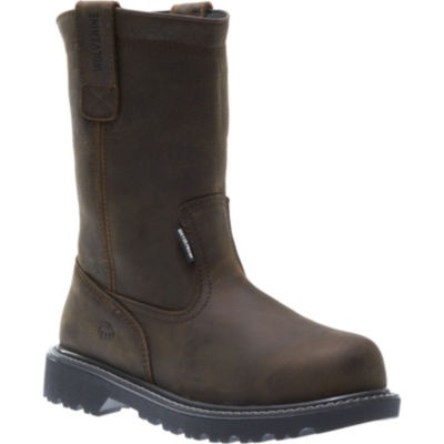 Wolverine Mens Floorhand Wellington Work Boots Waterproof Slip Resistant Steel Toe Pull-on