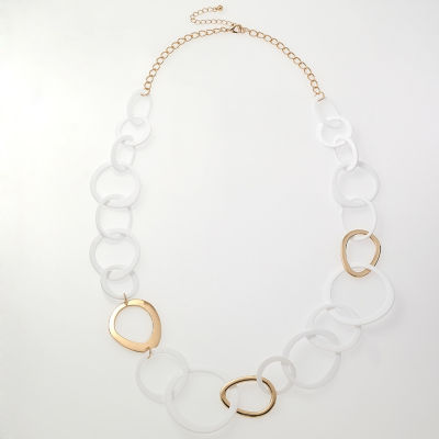 Bijoux Bar Womens 10 Inch Link Necklace
