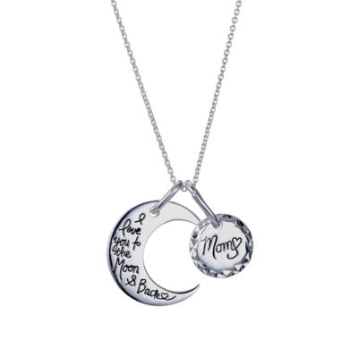 Footnotes Womens Sterling Silver Round Pendant Necklace