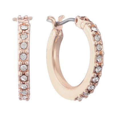 Gloria Vanderbilt 24.9mm Hoop Earrings