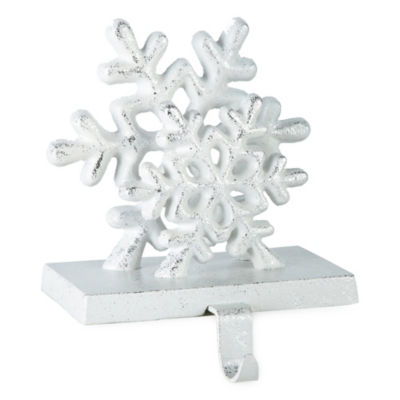 North Pole Trading Co. Metal Snowy Snowflake Stocking Holder