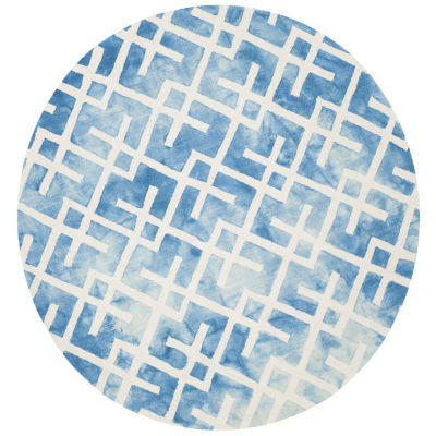 Safavieh Dip Dye Collection Earleen Geometric Round Area Rug