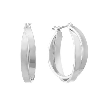 Gloria Vanderbilt 26.5mm Hoop Earrings