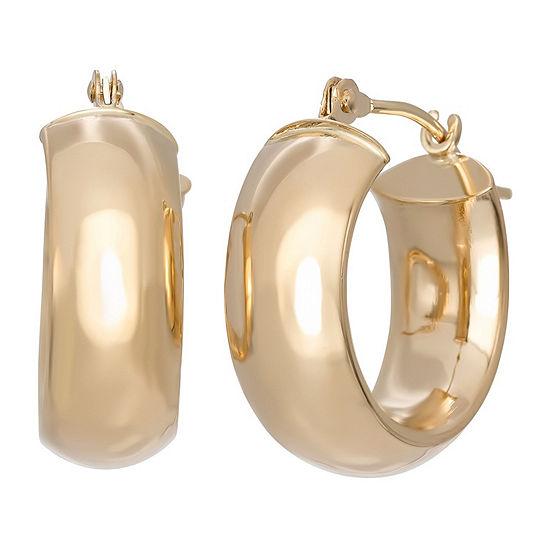 14K Gold 3mm Hoop Earrings