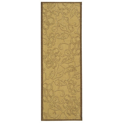 Safavieh Courtyard Collection Elwin Floral Indoor/Outdoor Runner Rug
