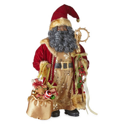 North Pole Trading Co. 18 Inch Traditional Handmade Santa Figurine