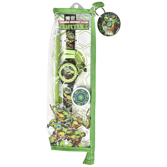 Teenage Mutant Ninija Teenage Mutant Ninja Turtles Boys Multicolor Strap Watch-Tmr40000jc