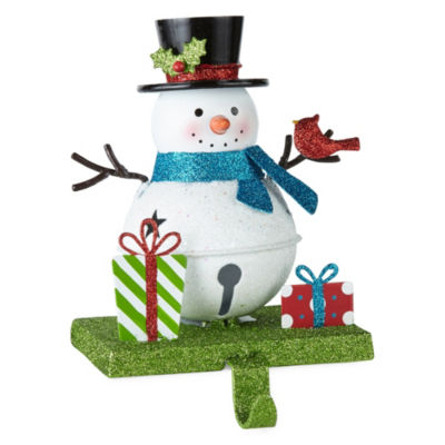 North Pole Trading Co. Metal Snowman Stocking Holder