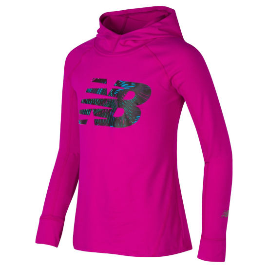 New Balance Performance Hoodie - Girls Preschool
