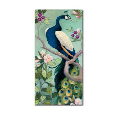 Trademark Fine Art Julia Purinton Pretty Peacock IGiclee Canvas Art