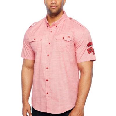 Ecko Unltd Short Sleeve Button-Front Shirt-Big and Tall