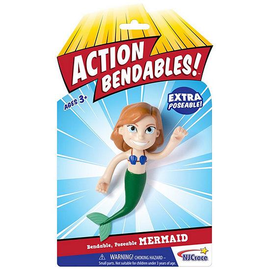 "Nj Croce Action Bendalbes! - 4"" Mermaid Action Figure"