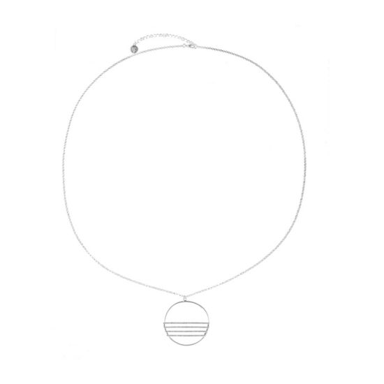 Liz Claiborne Womens White Pendant Necklace