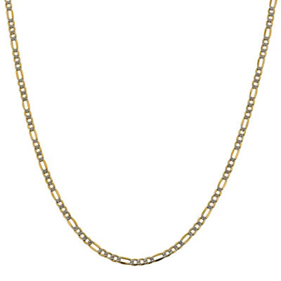 Made in Italy 14K Gold 16 Inch Semisolid Figaro Chain Necklace