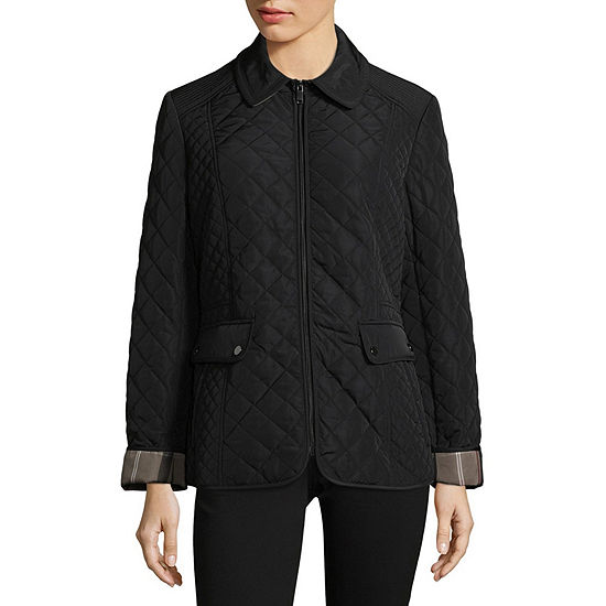 Liz Claiborne Quilted Midweight Quilted Jacket