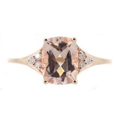 Womens 1/10 CT. T.W. Pink Morganite 14K Gold Cocktail Ring