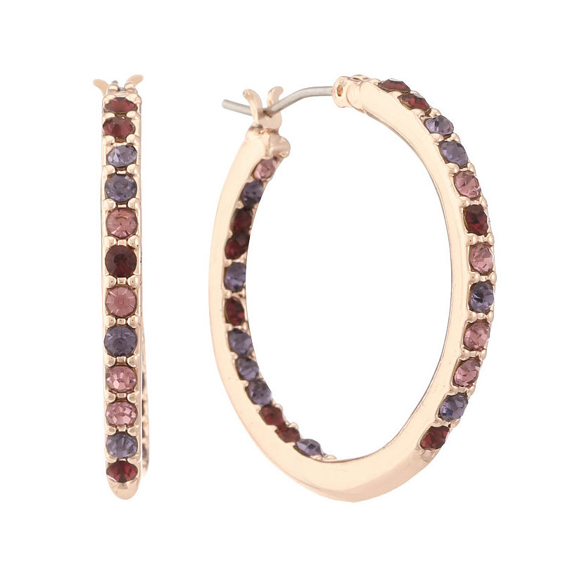 image of Gloria Vanderbilt 29.5mm Hoop Earrings-ppr5007771668