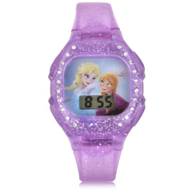 Disney's Frozen Unisex Purple Strap Watch-Fzn4113jc