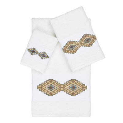 Linum Home Textiles 100% Turkish Cotton Gianna 3PC Embellished Towel Set