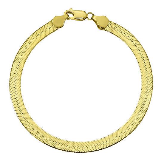 7 Inch Solid Herringbone Chain Bracelet