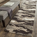 Safavieh Shag Collection Aleah Camouflage Runner Rug