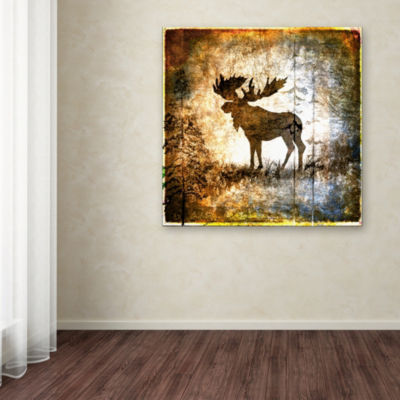 Trademark Fine Art LightBoxJournal High Country Moose Giclee Canvas Art