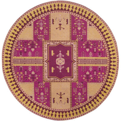 Safavieh Classic Vintage Collection Waylon Geometric Round Area Rug