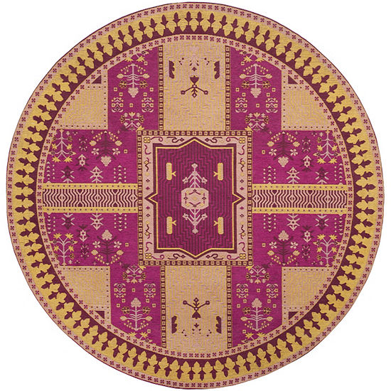 Safavieh Classic Vintage Collection Waylon Geometric Round Area Rug