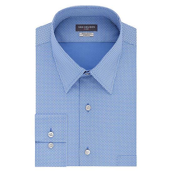Van Heusen Flex Collar Reg Stretch Men's Point Collar Long Sleeve Dress Shirt