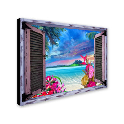 Trademark Fine Art Leo Kelly Tropical Window to Paradise VII Giclee Canvas Art