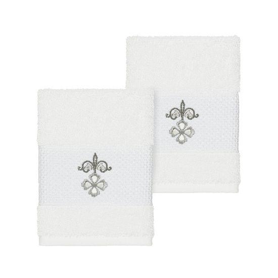 Linum Home Textiles 100% Turkish Cotton Quinn Embellished Towel Collection