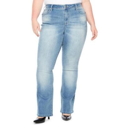 Boutique + Teardrop Bling Bootcut Jean - Plus