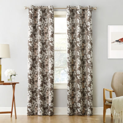 Sun Zero Piper Foliage Print Blackout Grommet Curtain Panel