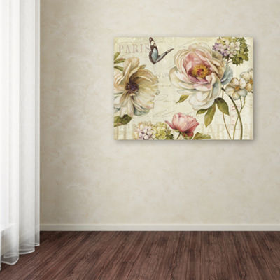 Trademark Fine Art Lisa Audit Marche de Fleurs IVGiclee Canvas Art