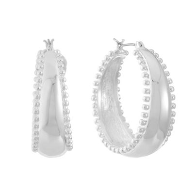 Gloria Vanderbilt 31.3mm Hoop Earrings