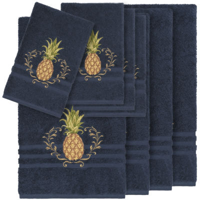 Linum Home Textiles 100% Turkish Cotton Welcome 8PC Embellished Towel Set