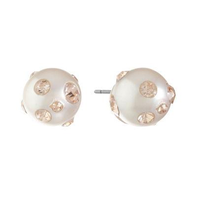 Monet Jewelry Pink 12mm Stud Earrings