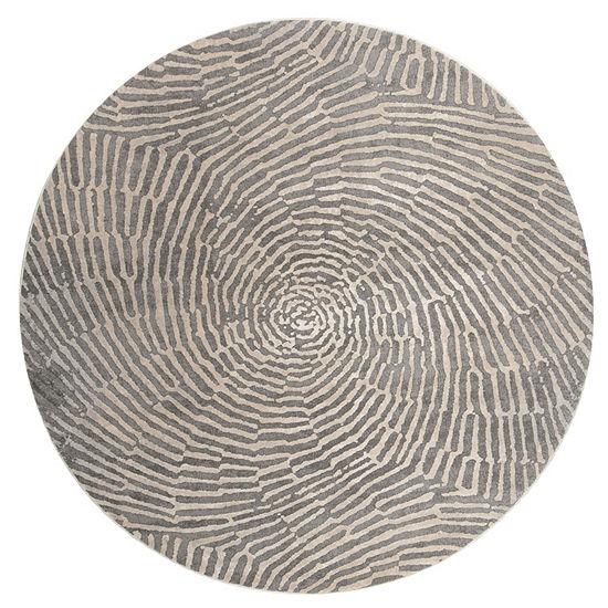 Safavieh Meadow Collection Elyse Geometric Round Area Rug