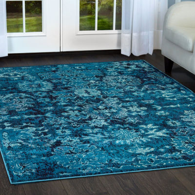 Nicole Miller Patio Starlight Zinnia Damask Rectangular Indoor/Outdoor Area Rug
