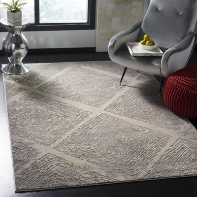 Safavieh Meadow Collection Myrtle Geometric SquareArea Rug